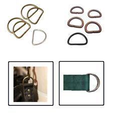 10pcs D Rings Buckles for Fastening Webbing Pet Collars Arts and Crafts Handbags