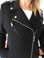 DIESEL BIKER MOTO JERSEY KNIT JACKET COTTON BLACK  Size XS/S New without tags