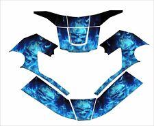Miller T94i I T Digital Elite Welding Helmet Wrap Decal Sticker Jig Blue Skull