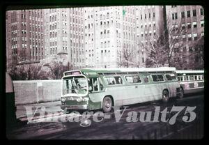 DUPLICATE SLIDE GM BUS 4 FIFTH AVENUE COACH NEW YORK CITY 1960'S
