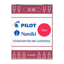 Namiki Pilot Fountain Pen Ink Cartridges 6-pk, Red