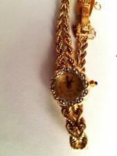 Ladies Vintage 14 kt Yellow Gold  Jaguar Watch w/ Diamond Bezel & Sapphire Stem