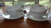Syracuse China cups and saucer sets Lynnfield Carefree China Made in USA 4 sets