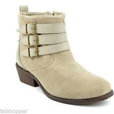 NEW 7.5 M CHARLES DAVID SUEDE LEATHER DEVOTE ANKLE FASHION BUCKLE BOOTS BOOTIE