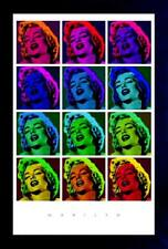 MARILYN MONROE POP ART SQUARE 13x19 FRAMED GELCOAT POSTER ICONIC BEAUTIFUL MODEL
