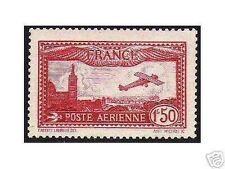 "FRANCE STAMP TIMBRE AERIEN 1930  Y&T 5  "" AVION 1F50 CARMIN "",  NEUF xx TTB"