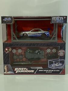 Fast and Furious Brians Nissan Skyline GTR R34 Build n Collect Jada 31288