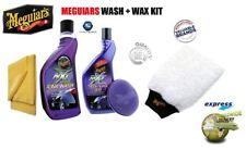 MEGUIARS NXT GEN WASH & WAX KIT CAR WASH TECH WAX MICROFIBER PAD TOWEL & MITT