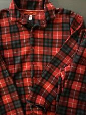 Boys Flannel Button Up Pajamas - Size 10/12