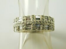 Diamond cluster half eternity ring 18 carat white gold 1.15 carats size M 6.8g