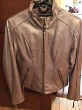 leather harley jacket womens small purple