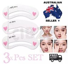 3x Eyebrow Stencil Template Styles Models Brow Shaper Filler DIY Eye Makeup Tool