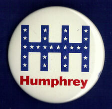 "1968 Hubert H Humphrey 2-1/4"" / ""HHH"" Presidential Campaign Button(pin 01)"