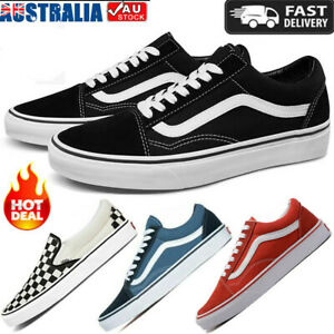 New Men's Women's VAN Classic OLD SKOOL Low Top Canvas sneakers Shoes Casual AU