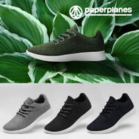 Paperplanes Mens Merino Wool Shoes Comfortable Lightweight Casual Sneakers 1501