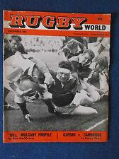 Rugby World December 1962 magazine.