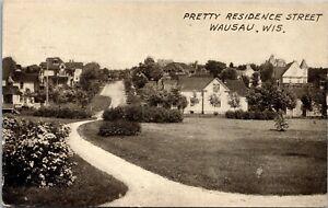 Postcard Pretty Residence Street in Wausau, Wisconsin~131202