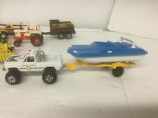 Tootsie Toy Chicago Trailer Boat Ford Tractor Case GMC High Roller 1982