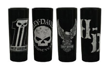 Harley-Davidson Dark Custom Ceramic Shot Glasses, Set of 4, 2.5 oz. SG25288