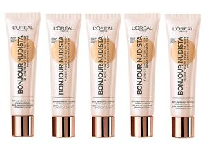 5x 12ml Loreal L'oreal BB Cream Bonjour Nudista  für den frische kick (60ml)