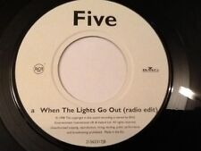 FIVE . WHEN THE LIGHTS GO OUT ( RADIO EDIT ) / ( EXTENDED MIX )  RARE VINYL 1998