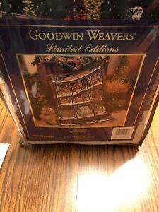 "Dept 56 Heritage Village Christmas Afghan Woven Throw Blanket 48"" x 67"" Goodwin"