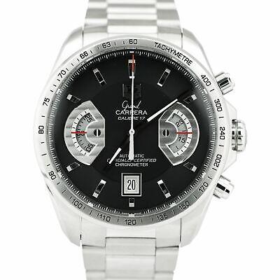 TAG Heuer Grand Carrera Chronograph Calibre 17 Black Automatic CAV511 43mm Watch