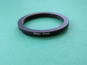 58mm-49mm Stepping Step Down Male-Female Filter Ring Adapter 58mm-49mm