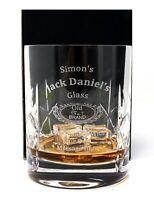 Personalised Jack Daniels Crystal Glass Tumbler Gift Birthday/Dad/Christmas/Son