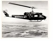 Bell Huey HU1E Marine Corps Helicopter Official Photograph 8x10 BW