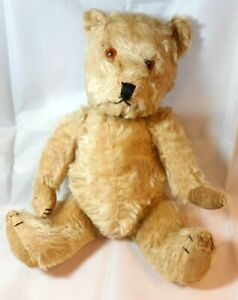 """ANTIQUE / VINTAGE 16"""" JOINTED MOHAIR TEDDY BEAR"""