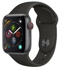 Apple Watch Series 4 40 mm Space Gray Case with Black Sport Band GPS + Cellular