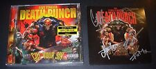 FIVE FINGER DEATH PUNCH hand signed CD card GOT YOUR SIX autographed NEW