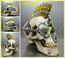Steampunk Cyber Futuristic Gothic SKULL Skeleton HEAD Sculpture Halloween Decor