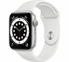 APPLE Watch Series 6 Silver Aluminium with White Sports Band 40mm - Currys
