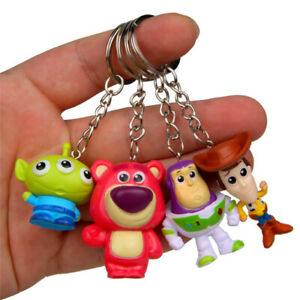 4pcs/set Toy Story Figure Keychains Keyring Bag Pedant Accessories Cute Gift