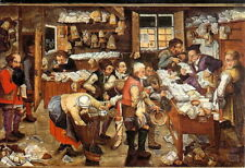 Pieter Breugel Jr (1564-1638) - The Tithing - Bruges Museum - Unposted c.1980's
