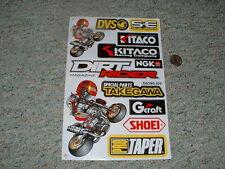 Decals / stickers R/C radio controlled Kitaco Gcraft Dirt Rider Mag DVS etc  G66