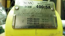 DUNCAN CT CURRENT TRANSFORMER  TYPE DCBW  400:5A