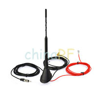 Universal Roof Mount Active Amplified FM + DAB Car Radio Aerial Antenna Mast SMB