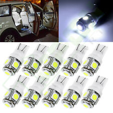 10x Ultra Bright White 5-5050-SMD LED T10 168 194 License Plate Light Bulbs Lamp