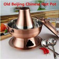 Old Beijing Chinese Hotpot Traditional Stainless Steel Large Copper Charcoal Pot