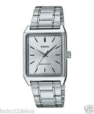 MTP-V007D-7E White Casio Men's Watch Stainless Steel Band Date Day Brand-New