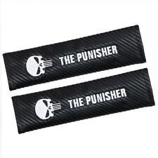 Carbon Fiber Seat Belt Cover Shoulder Cushion For The Punisher Benz Audi BMW TRD