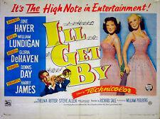 I'LL GET BY 1950 June Haver, Gloria De Haven, Harry James, Thelma Ritter UK QUAD