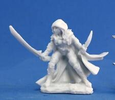 Deladrin, Female Assassin (1) Bones Miniature by Reaper Miniatures RPR 77035