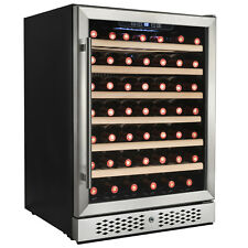 54 Bottles Single Zone Compressor Touch Control Freestanding Wine Cooler Chiller