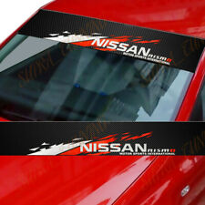 For NISMO Front Window Windshield Carbon Fiber Vinyl Banner Decal Sticker NISSAN