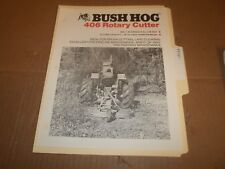 PY107) Bush Hog Sales Brochure 2 Pages - 406 Rotary Cutter