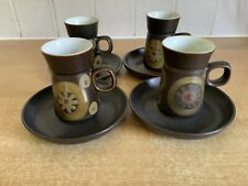 Denby Arabesque 4 x Coffee Cans / Cups and Saucers